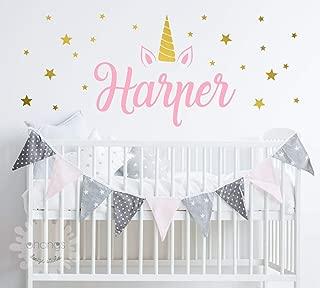 *SALE* Unicorn name room/Girls Name Decal/Nursery Custom name sticker/Personalized Wall Decal/Baby Name Decal/kidsroom