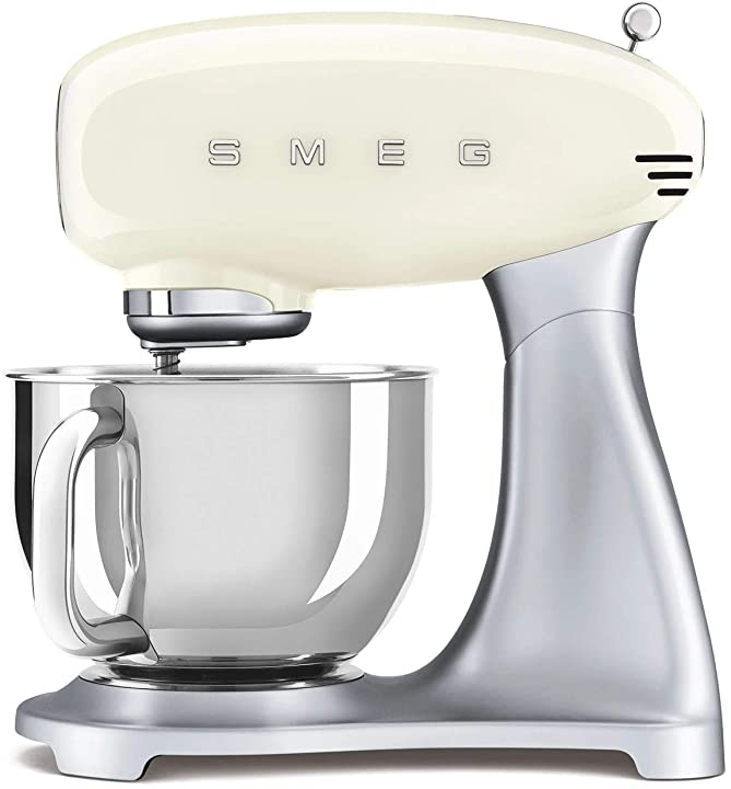 Robot da cucina crema 18/10 acciaio smeg smf02svuk/pbuk/pgeu smf02creu 4,8 l