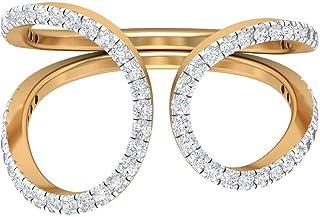 Anello in moissanite 1/2 ct, anello nuziale aperto, anello di fidanzamento in oro, 10K Oro