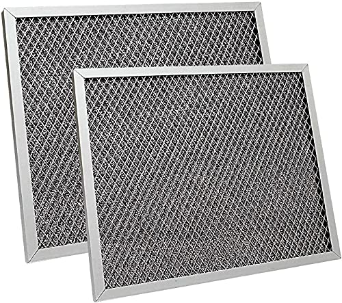 2 Pack Replacement Range Hood Filter 8-3/4' x 10-1/2' x 3/32' Kitchen Grease Filter Compatible with Broan, Kenmore, Maytag, Range Hood Charcoal Filter Ventline Grease Filter 97007696 S97007696 6105C