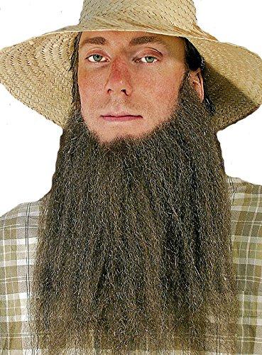 Amish Farmer Bart Kinnbart zum Kostüm zu Karneval Fasching braun