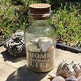 Materiale: Vetro, tappo in sughero. Colore: chiaro Bottiglie di vetro trasparente di puro artigianato, ogni bottiglia con un tappo di sughero. Multifunzionale, può riempire con pot-pourri, palline di gelatina, acrilici rocce e pietre preziose, petali...
