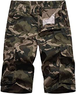 SportsX Men Short Camo Rugged Wear Utility Pocket Outwear Cargo Rip Stop Trouser