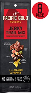 Pacific Gold Reserve Sweet Korean BBQ Pork Jerky Trail Mix with Mango and Papaya, 1.8 Ounce (Pack of 8)