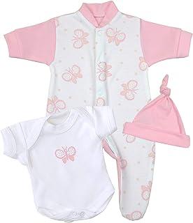 Babyprem Baby kleine Frühgeborene Kleidung 3-teiliges Geschenkset Mädchen