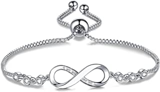 Infinity Bracelets for Women, Birthday Jewelry Gifts for Mom Women Daughter Girls