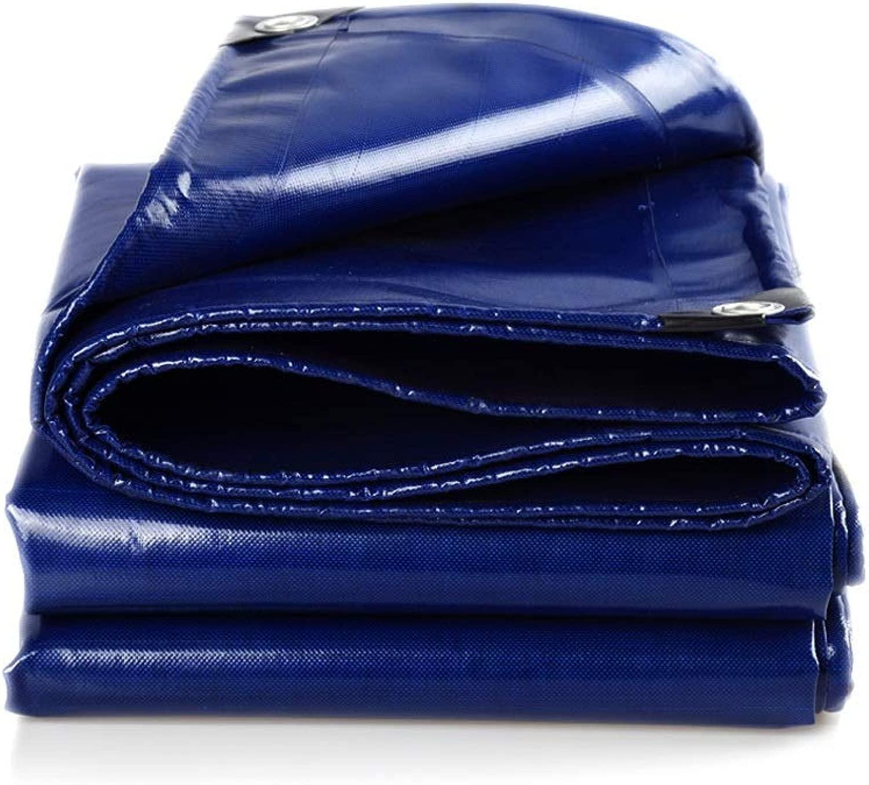 防水シート 防水シート550グラム/平方メートルの防水シートで作られた防水ヘビーデューティPVC青い防水シート 透湿 防水カバー (Size : 5.8X6.8m)