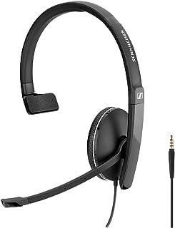 Sennheiser SC 135 (508318) - Auriculares monoaurales para profesionales de negocios, con sonido estéreo HD, micrófono con ...