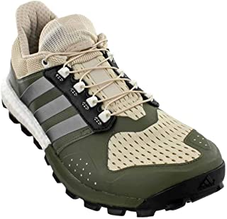 adidas Men's Raven m Trail Runner, Clear/Brown/Neo Iron Met. Base Green S, 7.5 M US