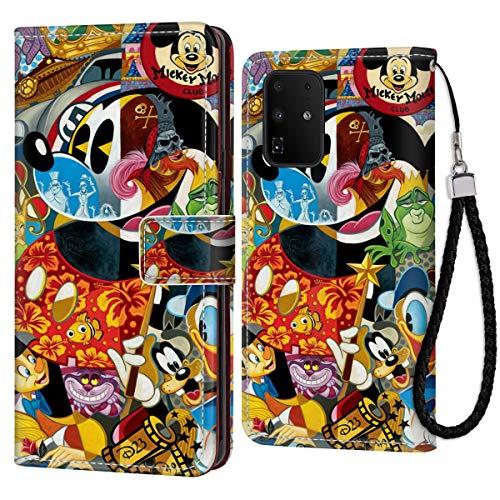 DISNEY COLLECTION Funda tipo cartera para Samsung Galaxy S20+, diseño de Mickey Mouse de Disney