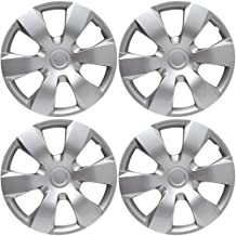 16 inch Hubcaps Best for 2007-2011 Toyota Camry - (Set of 4) Wheel Covers 16in Hub Caps Silver Rim Cover - Car Accessories for 16 inch Wheels - Snap On Hubcap, Auto Tire Replacement Exterior Cap