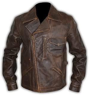 Escape Snake Plissken Antique Brown Biker Straight Fit Leather Jacket