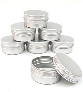 Balm Nail Art Cosmetic Cream Make Up Pot Lip Jar Tin Case Container Screw 15ml-10pcs