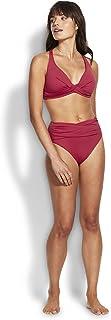 Seafolly Women's High Waist Wrap Front Bikini Bottom Swimsuit