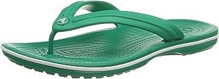 Crocs Crocband Flip, Infradito Unisex – Adulto, Verde (Deep Green/White), 48/49
