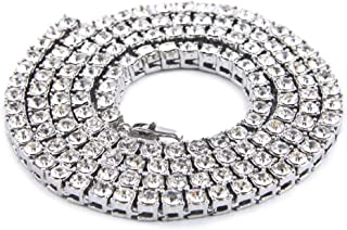 Shoopic Hip Hop Mens Iced Out Tennis Chain Necklace 20