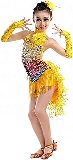 803914c98c696 Magogo Robes de Danse Latine Swallowtail Jupe pour Les Filles