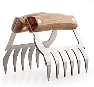 Thermaque Metal Meat Claws - Easily Lift, Handle, Shred, and Cut Meats - Essential for BBQ and Smoker Fans - Ultra-Sharp Blades, Bottle Opener and Bone Cutter, 2 Pcs Bear Paws Shredder, BPA Free