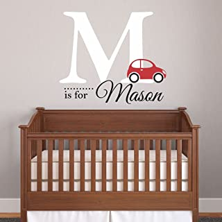 Nursery Boys Name and Initial Car Personalized Name Wall...