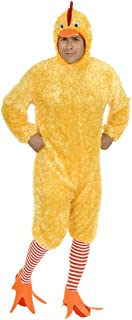 Charades Plus Size Funky Chicken Costume Set, Yellow, 1X