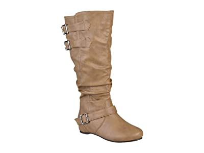 Journee Collection Tiffany Boot Wide Calf (Taupe) Women