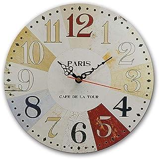 MGT0006 (30 x 30 cm) Analog wood-Wall Clock multi color