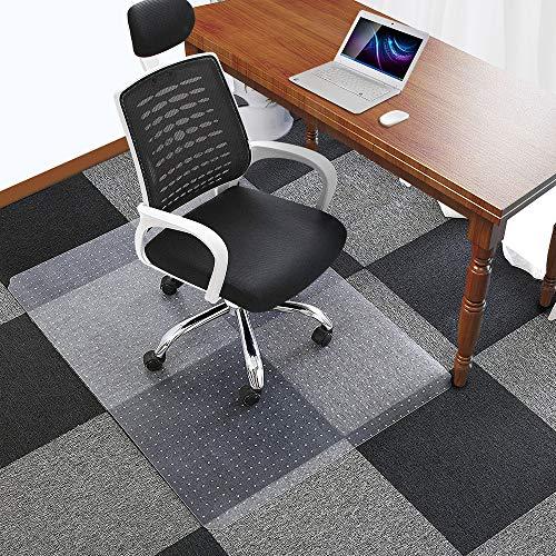 "Office Chair Mat for Carpets Floors Heavy Duty Carpet Chair Mat For Low And Medium Pile Carpets 48"" x 36"", Rug Protector Chair Mat"