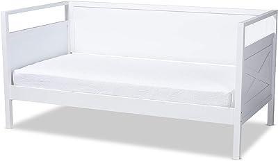 Amazon.com: Baxton Studio Mariana - Sofá cama de madera ...