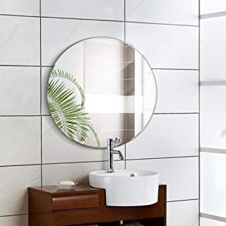 Frameless Round Wall-Mounted Vanity Makeup Mirror Home Decoration for Bathroom Bedroom 5CD1 (Size : 30cm)