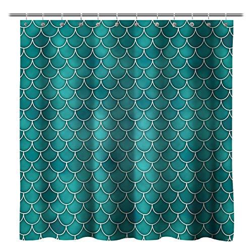Feierman Mermaid Shower Curtain Sex Decor Blue Ocean Bathroom ...