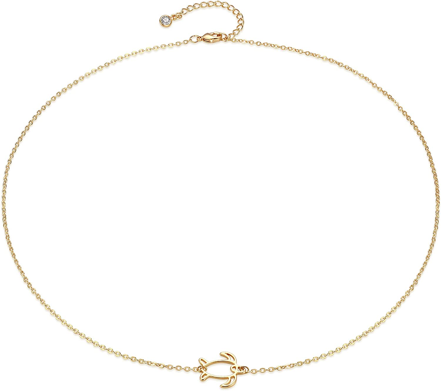 Gold Dainty Circle Purchase Necklace 14K Half Q New item Third One Plated