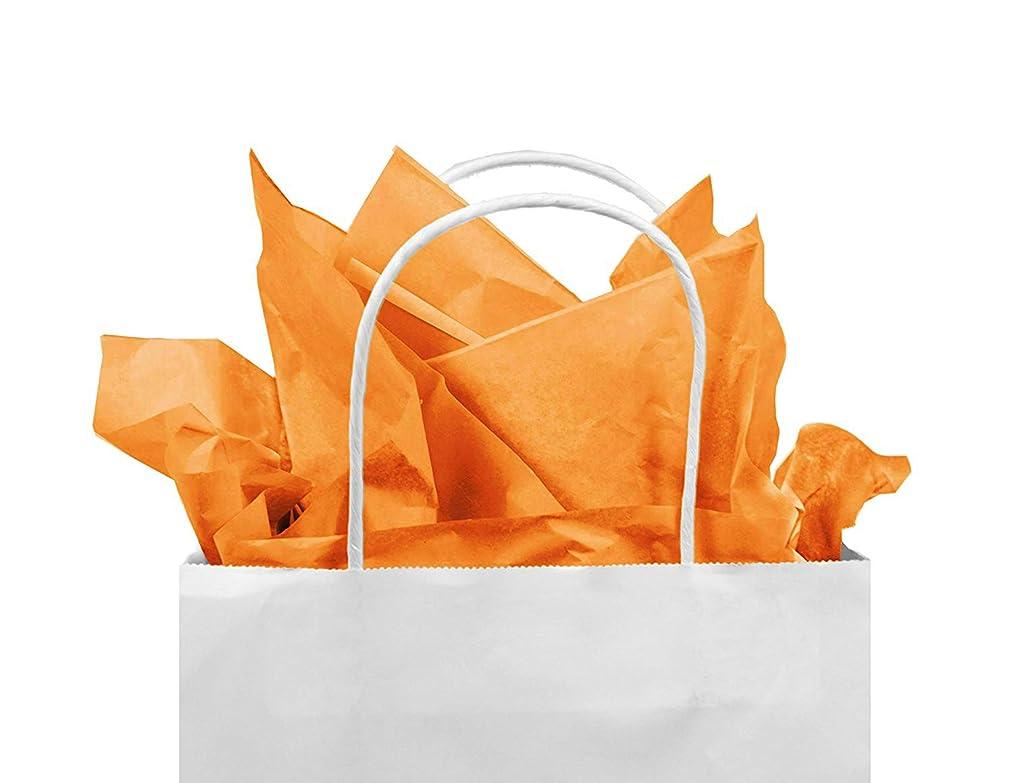 Gift Tissue Paper Bulk - 60-Sheet Yellow Gift Wrapping Tissue Paper, 20 x 20 Inches, Gift Bag Tissue Paper Gift Wrap, Premium Quality Tissue Paper, Paper Craft Supplies (Orange, 60 CT)