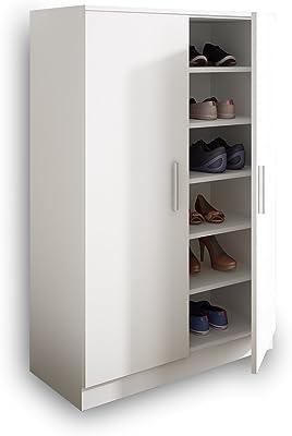 SLAAP - Zapatero Armario en Kit, Color Blanco (Viene DESMONTADO) (80ancho x120altox35fondo