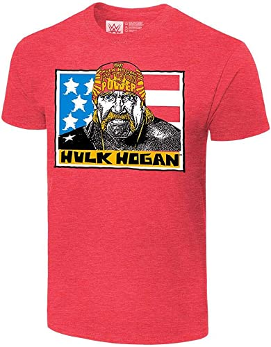 discount WWE Authentic Wear Hulk Hogan Real popular American Vintage T-Shirt outlet sale Red online
