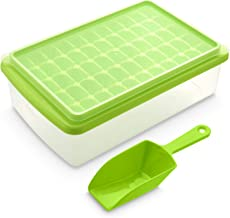 Ice Cube Tray With Lid and Bin | 55 Mini Nuggets Ice Tray For Freezer | Comes with Ice..