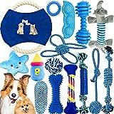 VIPNAJI Grupo de Juguetes para Perros Durable Masticable Cuerda, Herramientas de Entrenamiento, para Mantener a su Perro Sano,100% Algodón - 15 Piezas,- para Perros de Tamaño Mediano y Grande
