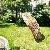 WWWRL Sombrilla De Jard├нn Paraguas | Superficie Di├бmetro 2.4m | Parasol Paja para Patio/Playa/Balc├│n/Terraza/Partido/Pesca | Altura 2.35m | Al Aire Libre Quitasol sin Base, Natural