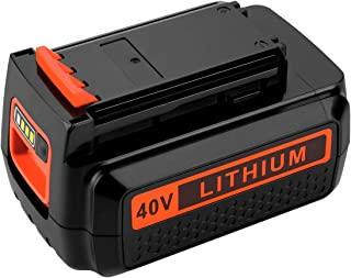 Powilling 40 Volt MAX 2.2Ah Lithium Replacement Battery for Black and Decker 40V Battery LBX2040 LBXR36 LBXR2036 LST540 LCS1240 LBX1540 LST136W Black+Decker Lithium Battery