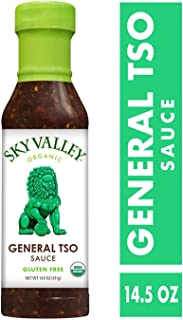 Sky Valley General Tso Sauce; 14.5 oz. (411 g); Certified Organic, Vegan, Gluten Free and Non-GMO; Perfectly Spicy and Sweet Organic Tamari, Garlic and Ginger Blend for Authentic, All-Natural Flavor