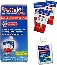 Burn Jel Max Emergency Burn Care 4% Lidocaine - includes one 3 oz bottle PLUS 3 single use packets!