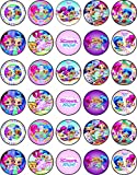 30 x Edible Cupcake Toppers Themed of Shimmer and Shine Collection of Edible Cake Decorations | Uncut Edible on Wafer Sheet