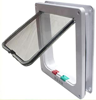 Cat Flap Door Magnetic Pet Screen Door con bloqueo de 4 vías para cachorros y perros
