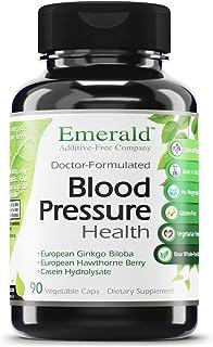 Blood Pressure Health - with European Ginkgo Biloba & Hawthorn Berry - Promotes Healthy Circulation, GI Health, Decrease I...