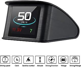TIMPROVE T600 Universal Car HUD Head Up Display Digital GPS Speedometer with Speedup Test Brake Test Overspeed Alarm TFT L...