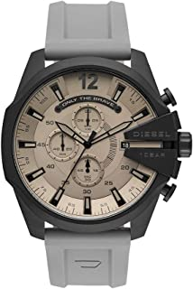 Diesel Men's Mega Chief Chronograph Black-Tone Stainless Steel Watch DZ4496