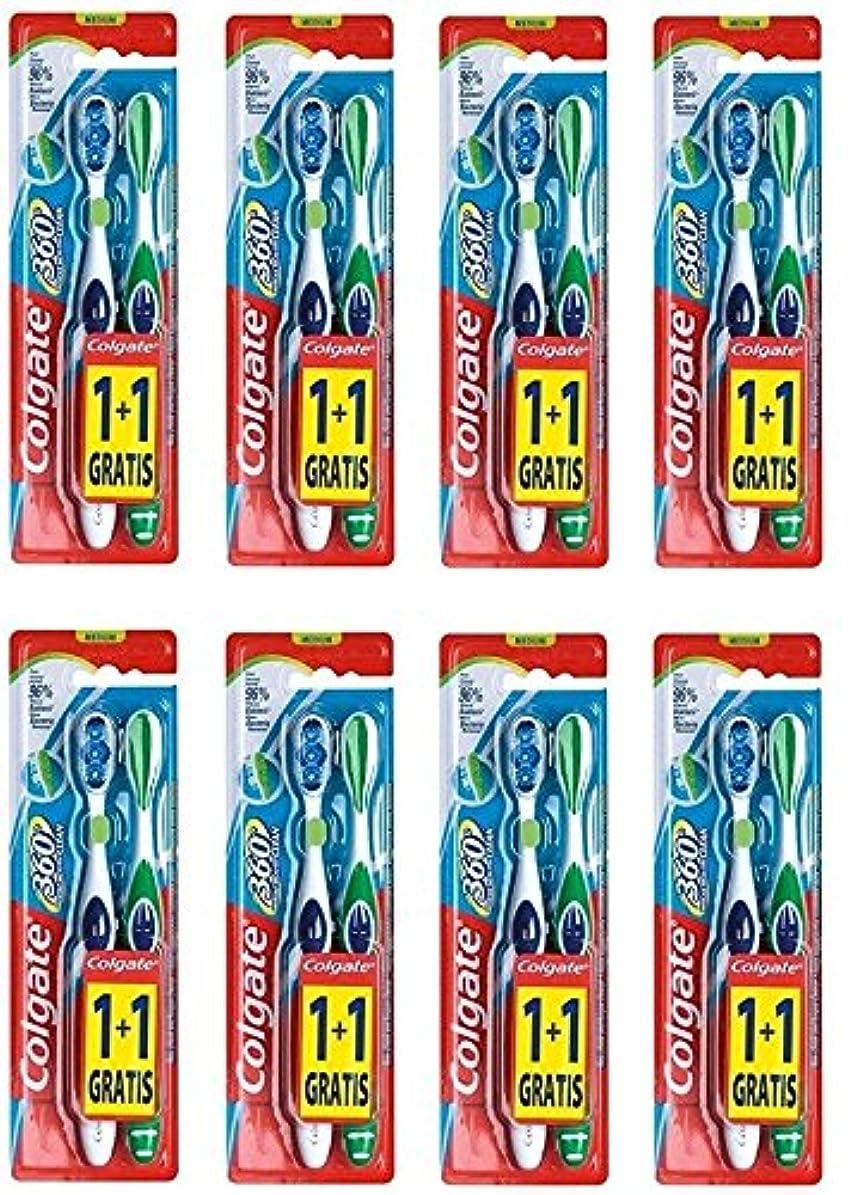 ご予約リースリムColgate 360 Whole Mouth Clean コルゲート 歯ブラシ 16個 (2 x 8) [並行輸入品]