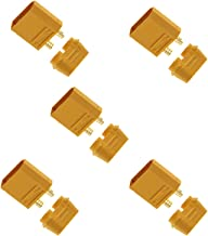Amass XT90/XT90-S Male Battery Connector Plug for Device or Charge Lead- 5 Piece