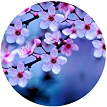 """Popular Pink Cherry Blossoms Designed Comfort Cloth Cover Round Mouse Pad 7.87"""" x7.87"""""""