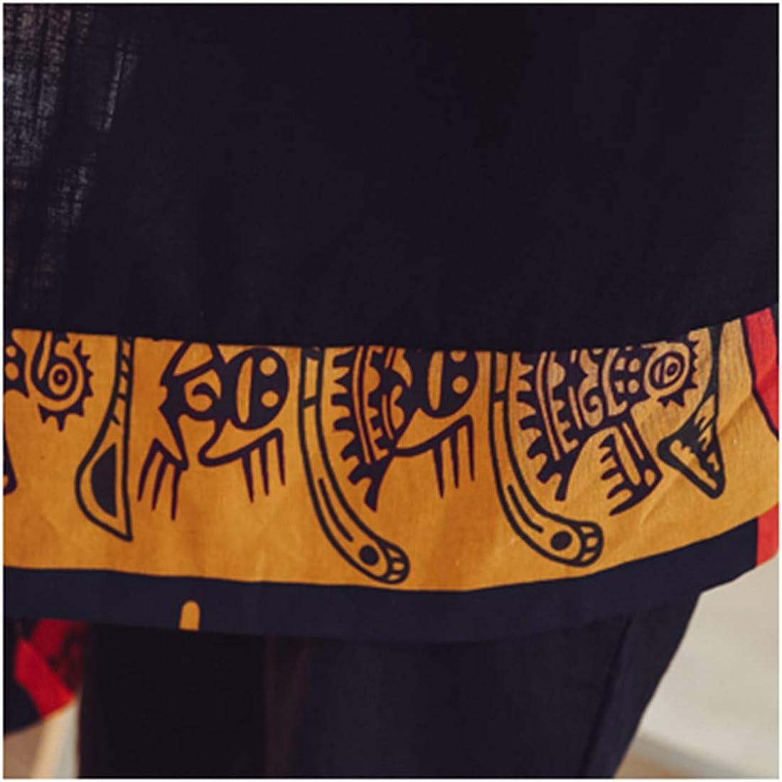 HZCX FASHION Men's Cotton Linen Long Kimono Jackets Open Front Cardigan Cloak