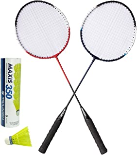 TRIUMPH Magic Badminton Combo with 1 Pair Racket and 6 Pc Shuttlecock Set